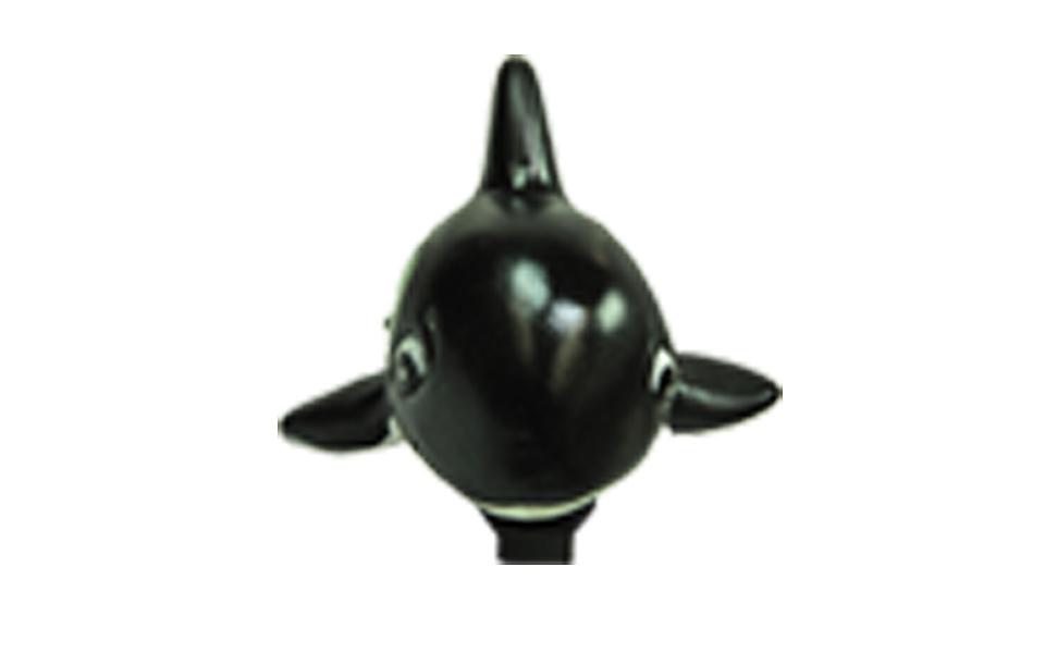Buzina Infantil em borracha atóxica tipo Baleia Orca
